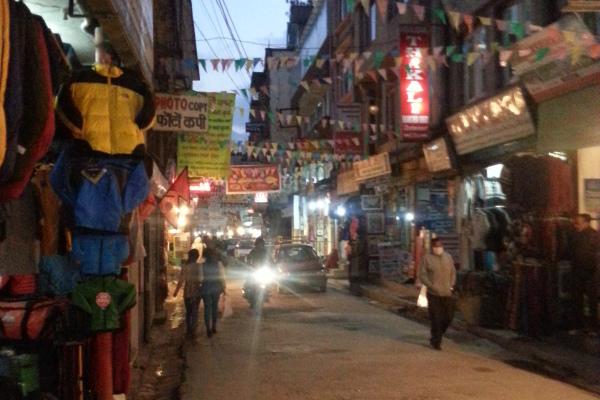 Das Touristenviertel von Kathmandu