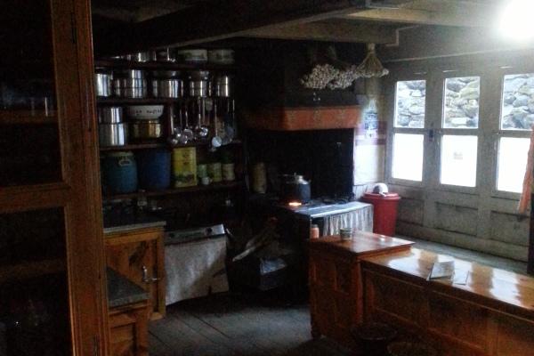 Der Wohnbereich/Küche des Hausherren