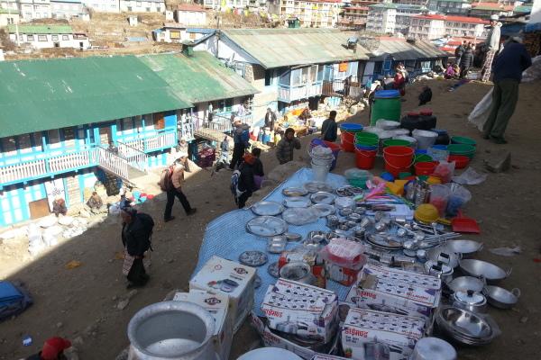 Basar in Namche Bazar