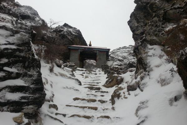 Der Eingang zu Tengboche