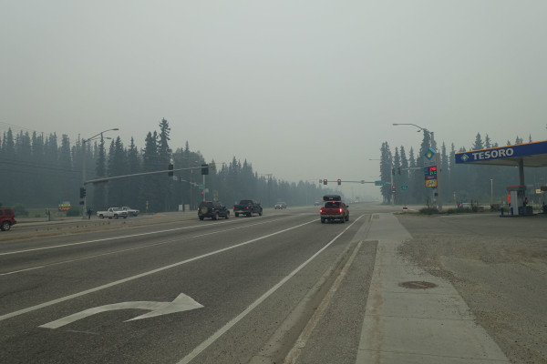 Fairbanks versinkt im Rauch