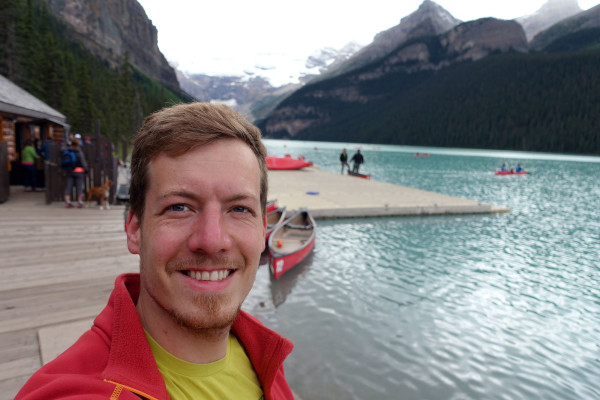 Ich am Lake Louise