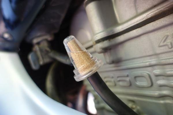 Ein externer Benzinfilter