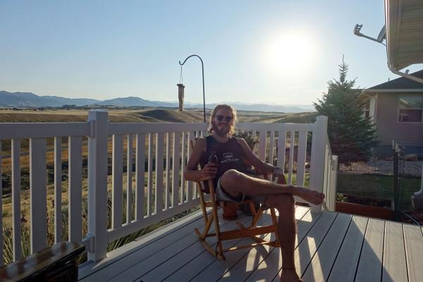 Constantin genießt die Sonne