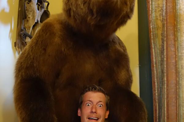 Hat der Bär mich doch erwischt.