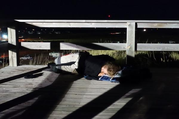Schlafen auf der Aussichtsplattform