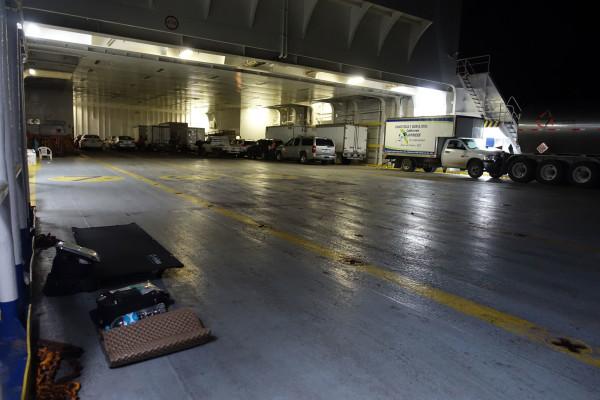 Unser Nachtquartier auf der Fähre