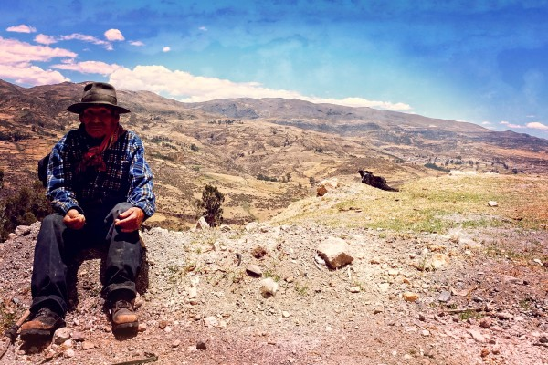 Ein Schäfer in den Anden
