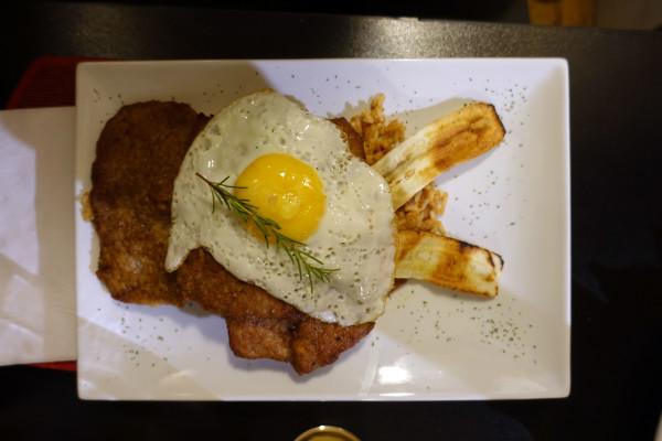 Alpaka, Ei und Banane