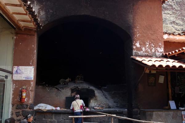 Großer Ofen im Stadtzentrum Písacs