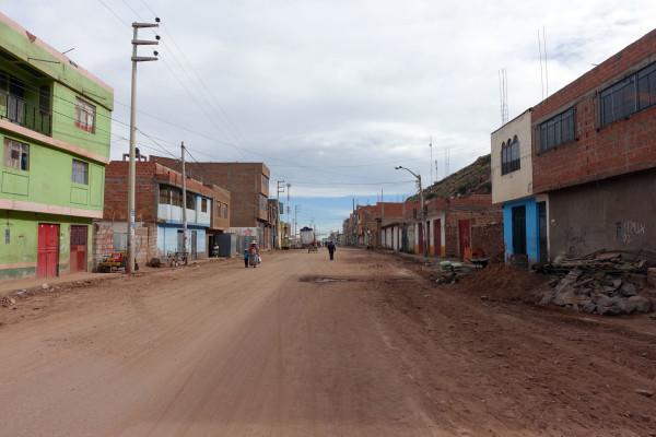 Weg zur bolivianischen Grenze