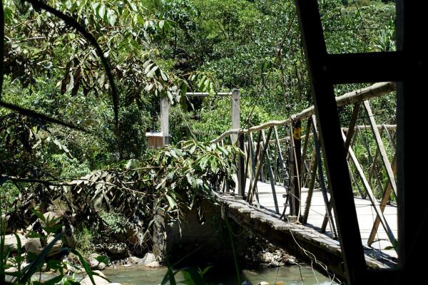 Brücke zu La Senda Verde