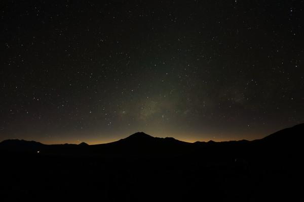 ... mit tollem Sternenhimmel