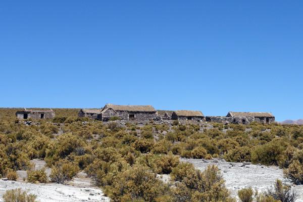 Ein Geisterdorf in den Anden