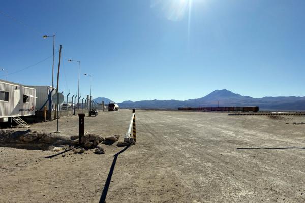 Die Grenze zu Chile