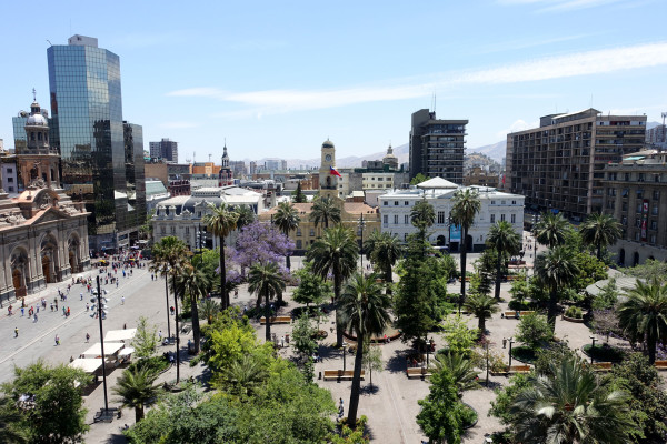 Blick auf den Plaza de Armas