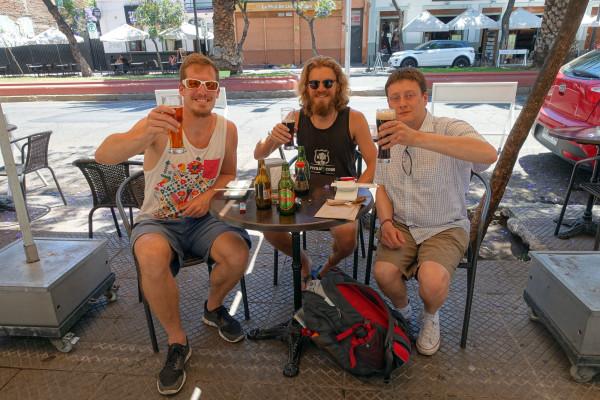 Arne, Constantin und ich