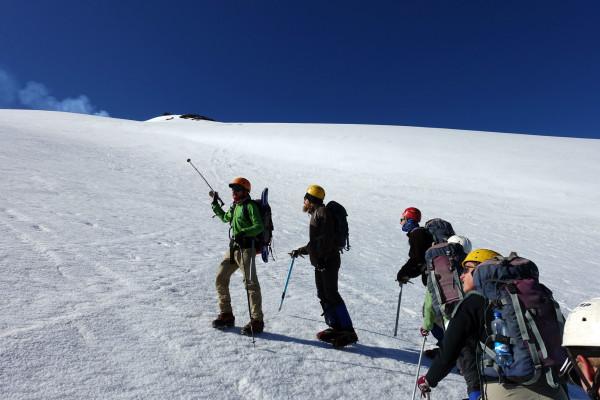Die Besteigung des Vulkans