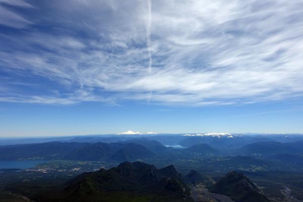 Blick vom Vulkan über Patagonien