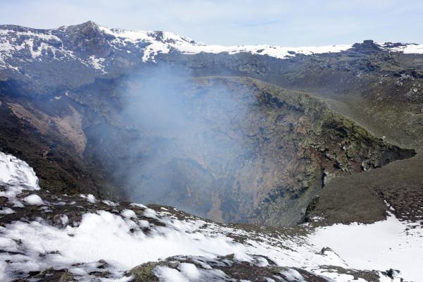 Der Krater des Vulkans