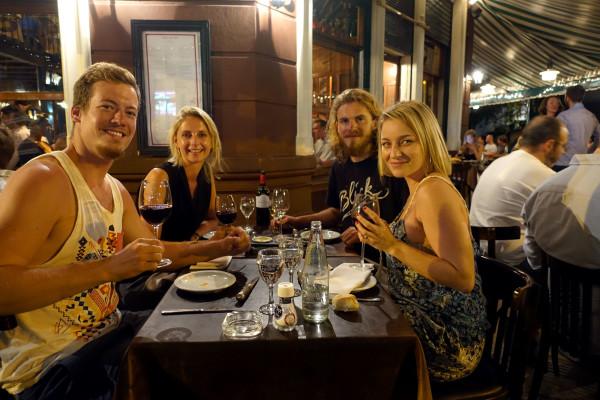 Solenne, Constantin, Pamela und ich